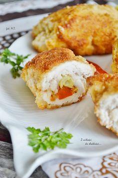 Z miłości do słodkości...: Roladki z kurczaka z fasolką szparagową
