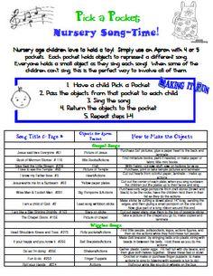 SINGING TIME IDEA: nursery singing time