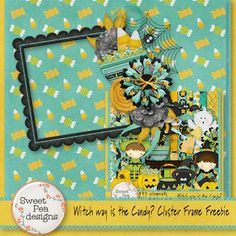 Scrapbooking TammyTags -- TT - Designer - Sweet Pea Designs,  TT - Item - Frame, TT - Style - Cluster, TT - Theme - Halloween