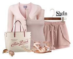 """""""short de Shein rose"""" by marie-iiii ❤ liked on Polyvore featuring Pure Collection, H&M, Louis Vuitton, Decree and Steve Madden"""