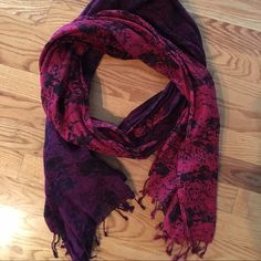 Snake Print Scarf Mixed colored snake print scarf. Purple & burgundy. NWOT. S+H included. From clean, smoke/pet free home. Victoria's Secret Accessories Scarves & Wraps