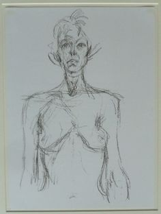 Lithographie - Alberto Giacometti - Bust of a Nude