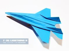 Paper Airplane Instructions: How to make a paper Jet Fighter that Flies | F-35 Lightning II - YouTube