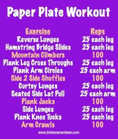 Paper Plate Workout - clever