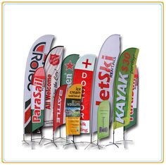 3.5m Flying Feather Beach Flag/Poster Banner Display