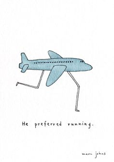 Marc Johns: He preferred running