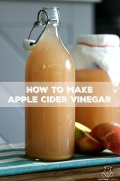 How To Make Apple Cider Vinegar - If you have apples, raw cane sugar, water and a little patience, you can make apple cider vinegar at home - no special skills needed! Make Apple Cider Vinegar, Apple Cider Vinegar Remedies, Apple Cider Vinegar Benefits, How To Make Vinegar, Coconut Oil Weight Loss, Natural Cough Remedies, Herbal Remedies, Home Canning, Natural Remedies