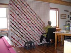 It is time to finally finish this quilt top. I had lots of 2 inch squares cut out from scraps, so I sewed them into 4 patch blocks. H...
