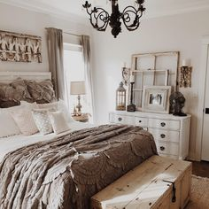 Most Beautiful Rustic Bedroom Design Ideas. You couldn't decide which one to choose between rustic bedroom designs? Are you looking for a stylish rustic bedroom design. We have put together the best rustic bedroom designs for you. Find your dream bedroom. Guest Bedroom Decor, Farmhouse Master Bedroom, Master Bedroom Design, Modern Bedroom, Bedroom Ideas, Bedroom Rustic, Contemporary Bedroom, Comfy Bedroom, Bedroom Designs
