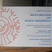 Phylogeny tree wedding invite Cool abstraction and like the non-traditional font