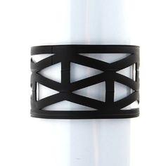 Urban Lace Lattice Ultrasuede Onyx Bracelet #UrbanLace #Cuff