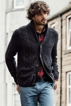 Moda Casual Ideas H&m 59 Ideas Mode Masculine, Casual Fall Outfits, Men Casual, Mode Man, Herren Outfit, Cardigan Outfits, Knit Cardigan, Gentleman Style, Mens Clothing Styles