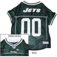 New York JETS NFL dog Jersey in color Green