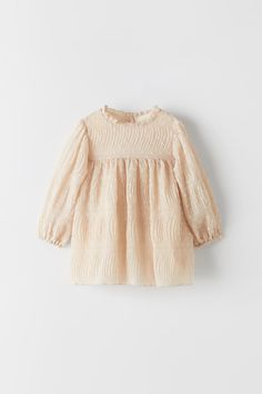 PLEATED DOTTED MESH DRESS | ZARA United States Baby Girl Dresses, Girl Outfits, Cute Outfits, Baby Girls, Mesh Dress, Dress Up, Baby Boutique Clothing, Kids Clothing, Girls Dresses Online