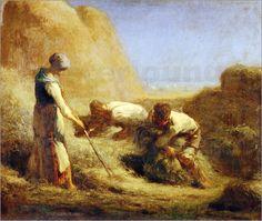 Millet, Les botteleurs de foin, 1850