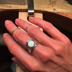 Lifou 'Touch the Sunrise' silver ring with white opal 🐬💕 White Opal, Sunrise, Silver Rings, Touch, Turquoise, Jewelry, Jewlery, Bijoux, Jewerly