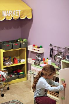 Ideas for the kids play kitchen!