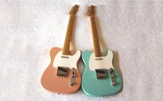 Fender Telecasters in Seafoam & Coral