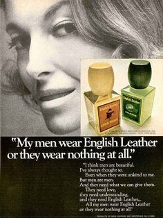 """EVEN WHEN THEY CHEATED ON ME. EVEN WHEN THEY BEAT THE SHIT OUT OF ME"" (1969 ad) 