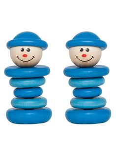 Little Friend Rattle (Set of 2) from Classic Wooden Toys on Gilt