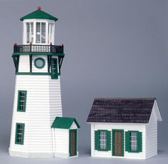 "Finished 1/2"" Scale Lighthouse Dollhouse"