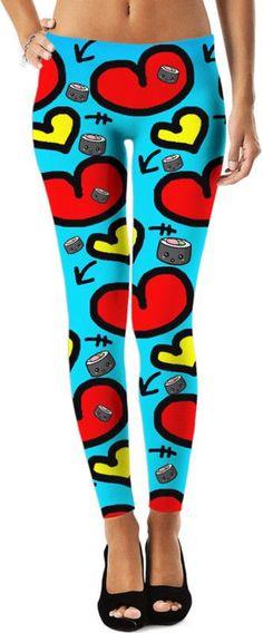 I Love You Sushi Leggings