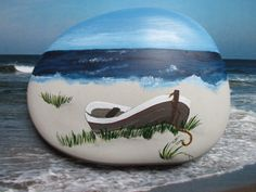 Painting Concrete, Pebble Painting, Pebble Art, Stone Painting, Rock Painting Patterns, Rock Painting Designs, Mini Canvas Art, Beach Rocks, Mandala Painting