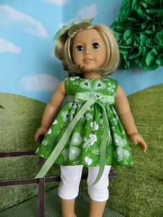 18 inch doll clothes American Girl doll clothes St. by SewCuteJune