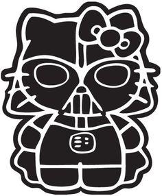 Hello Kitty Darth Vader Sticker Vinyl Decal !Choose a Color! Sanrio Star Wars