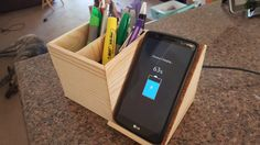 Wireless QI charger/pen holder/picture frame