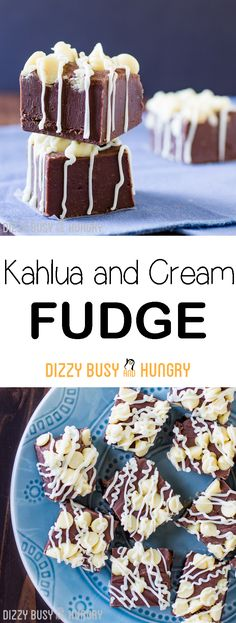 Kahlua and Cream Fudge | DizzyBusyandHungry.com - Smooth, creamy, decadant chocolate fudge recipe with the flavors of a festive, fun cocktail! #fudge #candymaking #inspirationspotlight