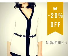 SCONTO 20% SENZA LIMITI:www.mireafashion.itFoto Ecommerce, Blazer, How To Make, Jackets, Italy, Shopping, Twitter, Women, Fashion