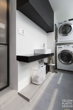 LOFT감성_목동부영 그린타운 3차 57평인테리어[옐로플라스틱/ yellowplastic/옐로우플라스틱] : 네이버 블로그 Laundry Room Cabinets, Natural Interior, Basement Apartment, Wardrobe Design, Bathroom Toilets, Small Rooms, Home Projects, Living Room Designs, Sweet Home