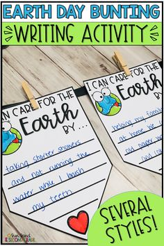 Earth Day Activities - Are you looking for a quick and fun Earth Day activity for your classroom? This Earth Day writing a - Earth Day Activities, Writing Activities, Preschool Activities, Science Writing, Kindergarten Science, Spring Activities, Teaching Writing, Kindergarten Classroom, Earth Day Projects