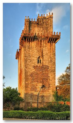 Main tower of the Beja mediaval #castle, #Portugal by VRfoto