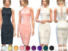 Lace Overlay Dress by ekinege at TSR