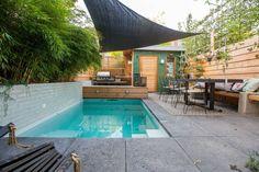Eindhoven, Backyard Pool Designs, Garden Pool, Garden Fun, Garden Ideas, Plunge Pool, Garden Architecture, Pergola Patio, Amazing Gardens