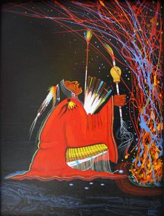 Self-taught Comanche artist Rance Hood is a master of color, movement, and rhythm. Native American Church, Native American Decor, Native American Paintings, Native American Artifacts, American Indian Art, Indian Paintings, Native American Indians, Spirited Art, Bubble Art