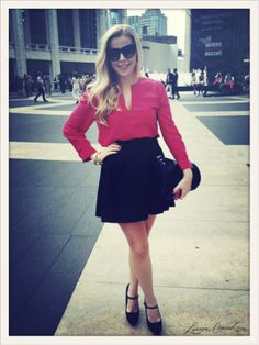 I absolutely adorbs this look! ~ Anna of Fash Boulevard at #FashionWeek