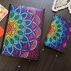 Passport cover with rainbow mandala, bright accessory, dot art, Multy Color, Spring Mandala Doodle, Mandala Art Lesson, Mandala Canvas, Mandala Artwork, Mandala Dots, Mandala Painting, Easy Mandala Drawing, Mandala Sketch, Doodle Art Drawing