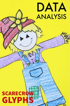 Your students will love making these cute scarecrow glyphs. The finished glyphs provide a fun way to practice data collection, data graphing, and data analysis. The glyphs also make a beautiful fall bulletin board! Kids Learning Activities, Classroom Activities, Fun Learning, Classroom Posters, Primary Classroom, Teaching Social Studies, Teaching Science, Teaching Strategies, Teaching Ideas
