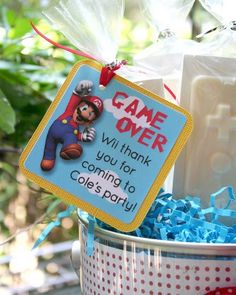 bday party favor - boys, video games, gamer party