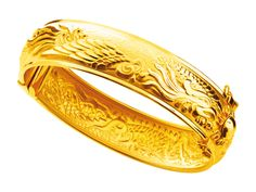 Gold 916 Dragon And Phoenix Bangle Maggie Lee Chinese Wedding