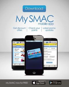 Calling all Smartphone users! The My SMAC mobile app is here!  SM Advantage and SM Prestige members get to enjoy:  · Checking your points balance anytime, anywhere · Receive updates on exciting offers exclusive to SMAC members · Get exclusive coupons that can be used to enjoy more savings at The SM Store. · View list of SMAC and SM Prestige privileges · More Treats – SMAC Treats featuring SM mall tenants · What's Up! – The latest promos and events of retail partners  Download the My SMAC App…