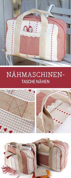 Nähanleitung für eine große Nähmaschinentasche, praktische Anleitung für Zuhause, selbermachen / diy sewing pattern for a sewing machine casem via DaWanda.com