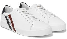 Moncler leather sneakers.