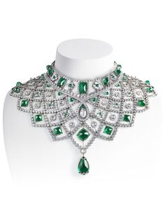 Romanov by Fabergé necklace with diamonds and emeralds