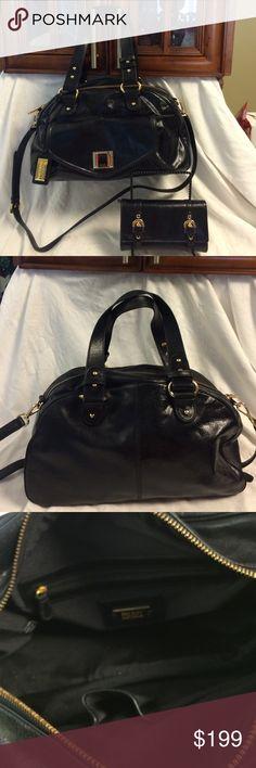 Selling this Badgley Mischka leather turnlock satchel w/ wallet in my Poshmark closet! My username is: b287807. #shopmycloset #poshmark #fashion #shopping #style #forsale #Badgley Mischka #Handbags