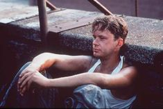 """Beers on the roof, Shawshank Redemption: Andy gets beers for his """"co-workers"""""""