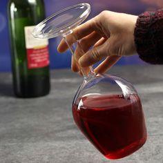 Upside Down Wein Glas - 375ml–Neuheit Weinglas - Tolles Geschenk
